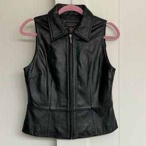 🌟EUC Lambskin Leather Vest Soft Lovely Size S🌟